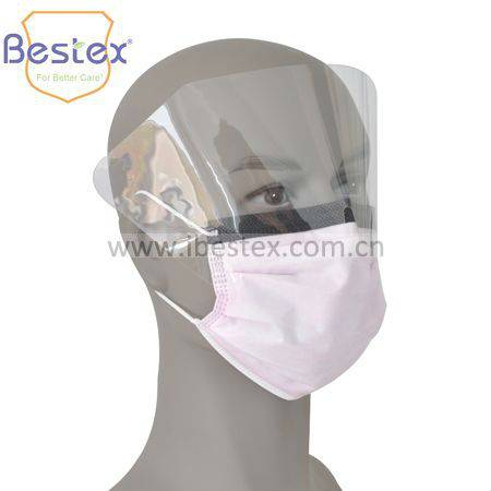 160mmHg Surgical Usage Disposable Face Mask With Shield