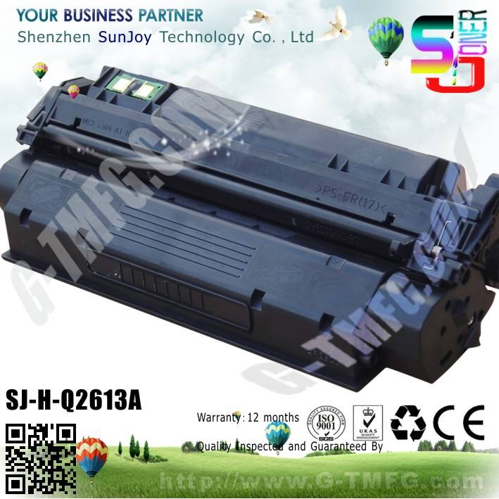 Sunjoy 13A toner cartridge Q2613A compatible for HP Laserjet 1300 1300n 1300xi