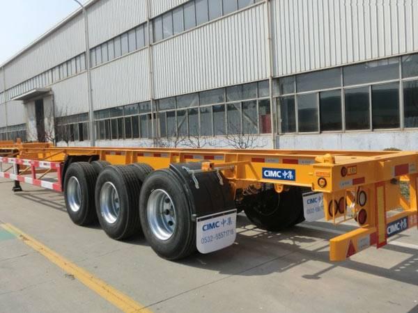 40ft 3 axles skeleton container semi-trailer