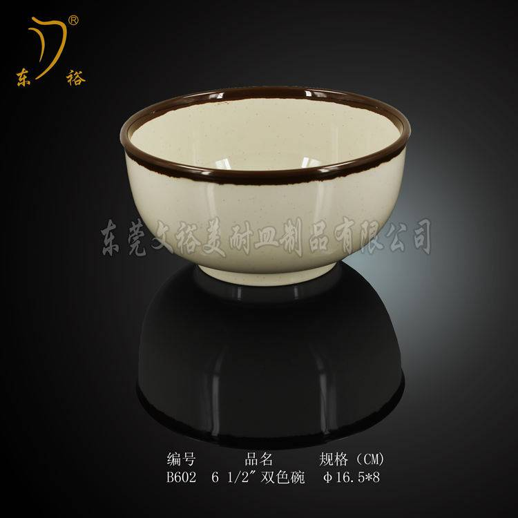 100% melamine tableware rice bowl soup bow salad bowl exported to Korea/Japan
