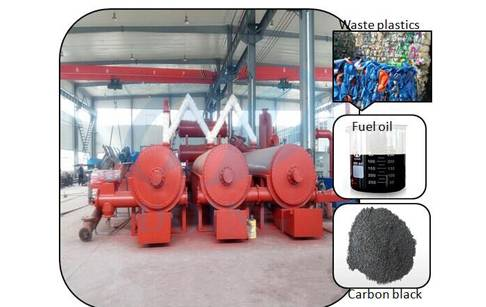 Plastic recycling machine continuous waste plastic pyrolysis plant