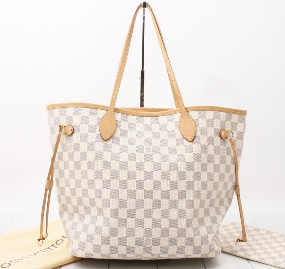 69966212ac26 Used Handbag LOUIS VUITTON M41361 Neverfull MM Damier Azur Shoulder and Tote  bags for bulk sale