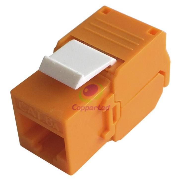 UTP Cat.6A Keystone Jack 180 Degree Orange Color