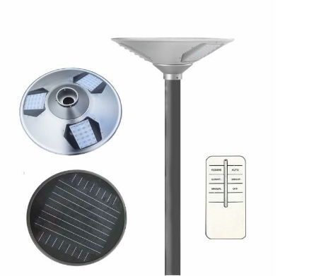 15W round UFO design solar power street lights integrated LED garden light