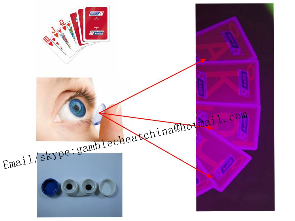 Copag EPT red color plastic marked playing cards/perspective glasses/uv ink/casino cheat/poker trick