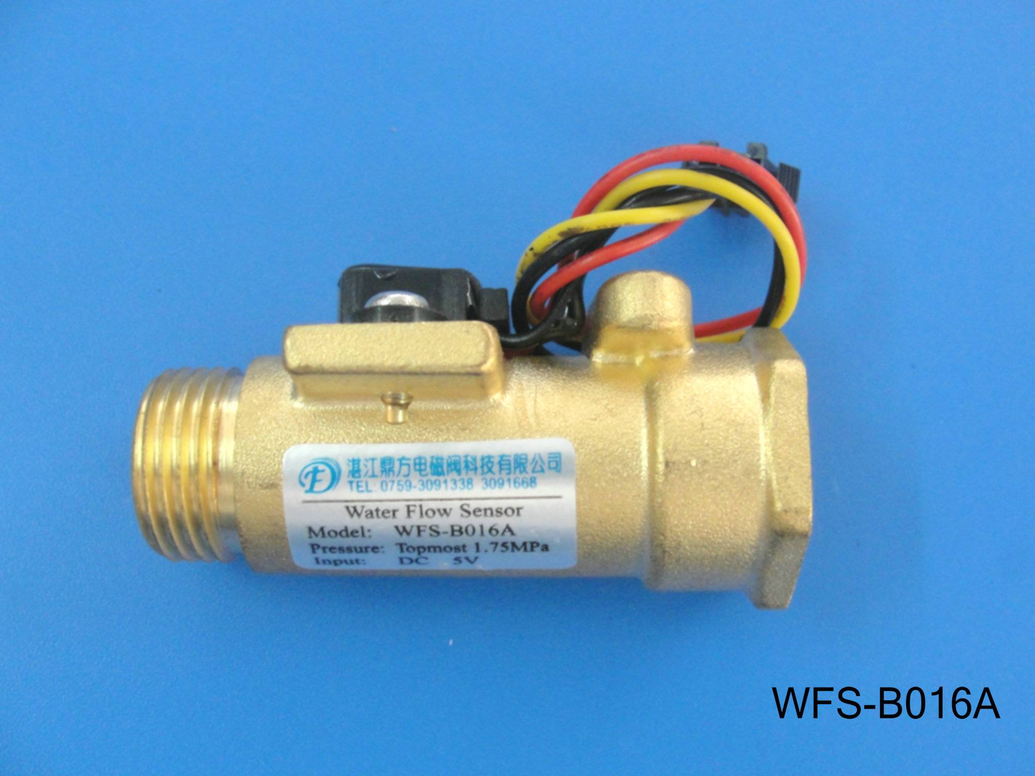 High temperature resistant all copper water flow sensor WFS-B016A
