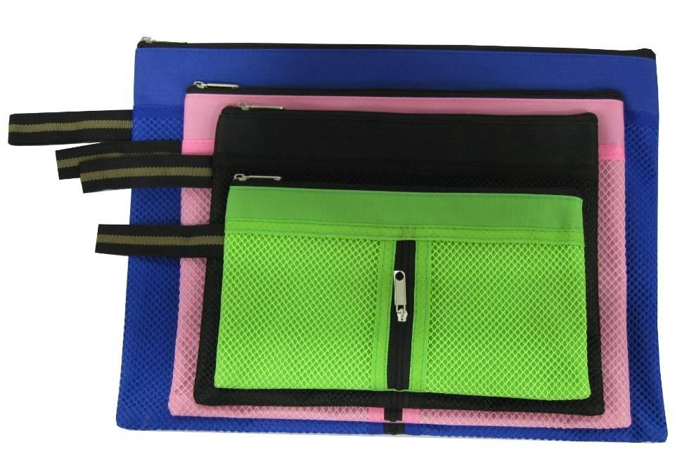 Double Zipper Mesh Bag