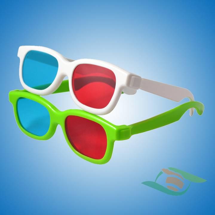 Cheap plastic red cyan 3d glasses