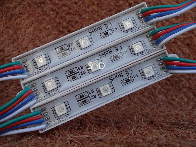 5050 3 led module RGB waterproof module IP65 5050/5054