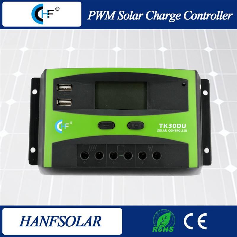 PWM 30A 12V/24V 48V Solar Charge Controller Regulator For Solar Battery Panel Safe Protection With C