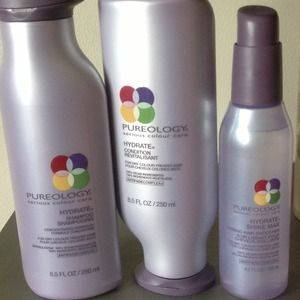 Pureology Hydrate Shampoo, Conditioner and Hydrate Shine Max