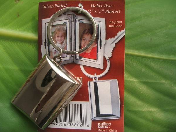 alloy photo frame key chain