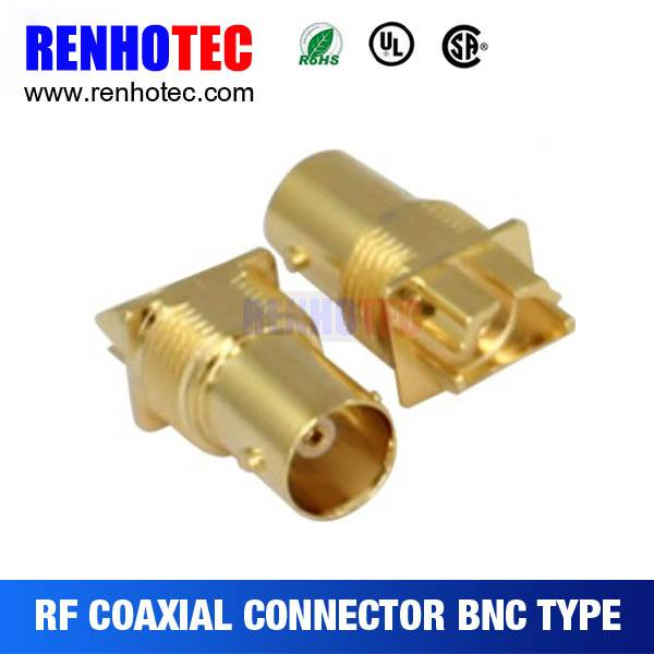 2015 High-end Gold plating BNC Jack connector pcb Edge Mount Receptacle. Isolatet