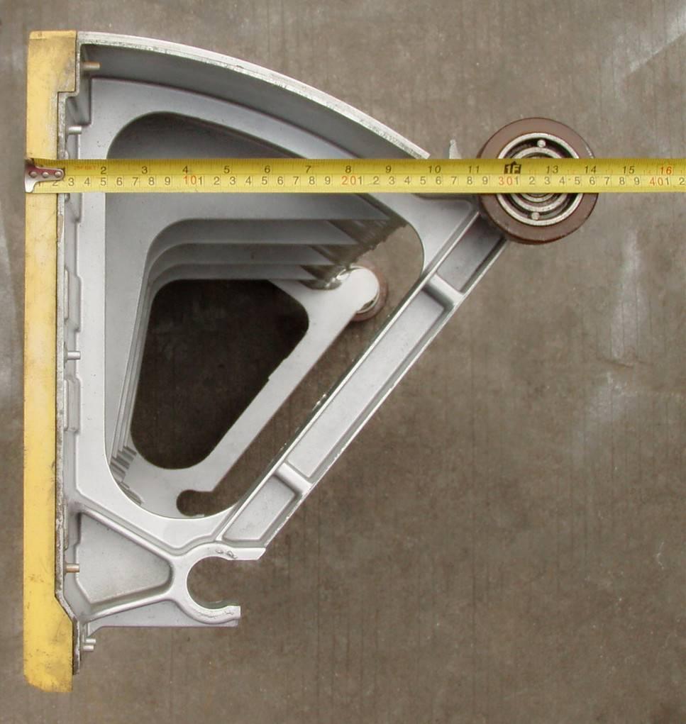 LG escalator aluminum step 30° 1000mm length