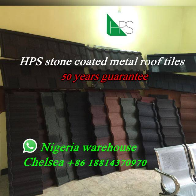 HPS Nigeria stone coated metal roof tiles in Abuja,Lagos and Onitsha