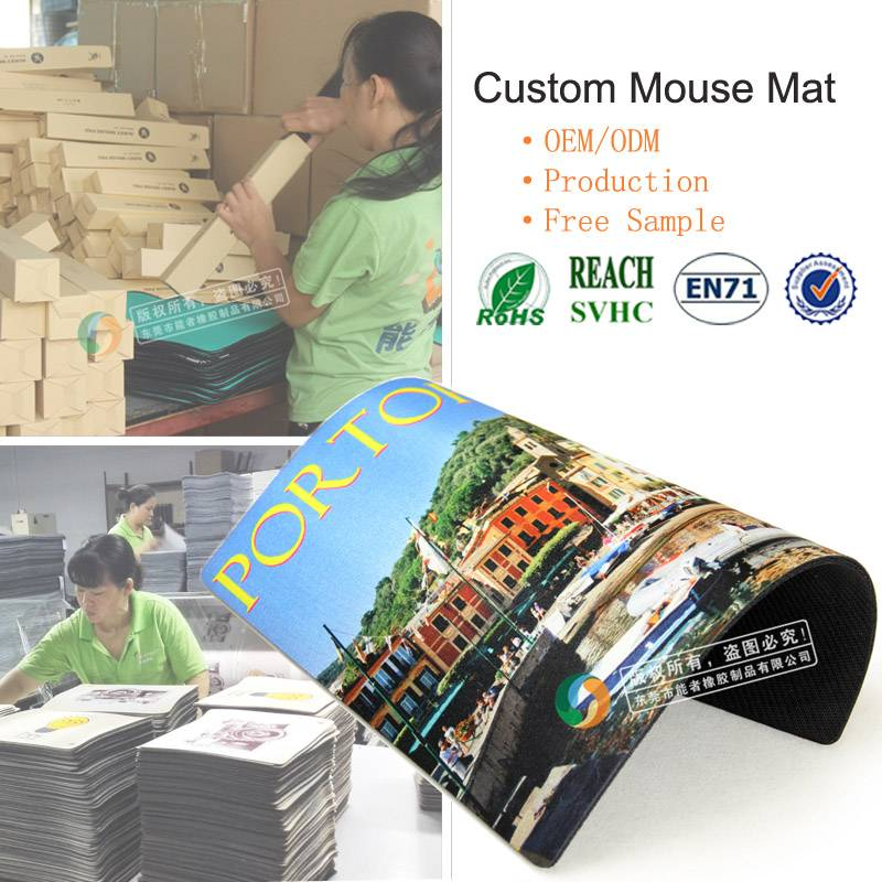 OEM Custom design heat transfer printed PC Mouse Pad/mat