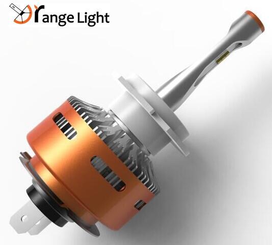 2017 Newest kind auto part orange light 36w H4/H7/H11 led headlight for car