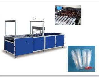 China automatic disposable plastic cup stacking machine