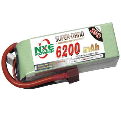 NXE6200mAh-25C-14.8V Softcase RC Helicopter Battery
