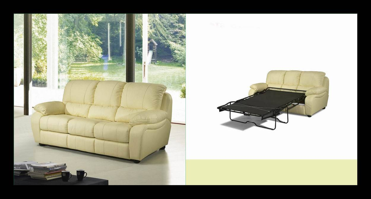 functional leather recliner sofa bed