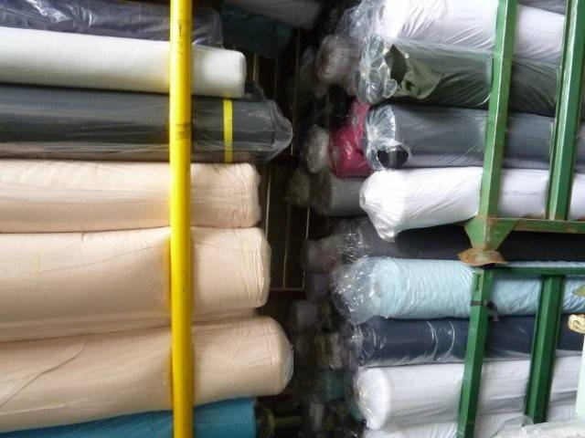 Polyester textile fabric. Made in Japan