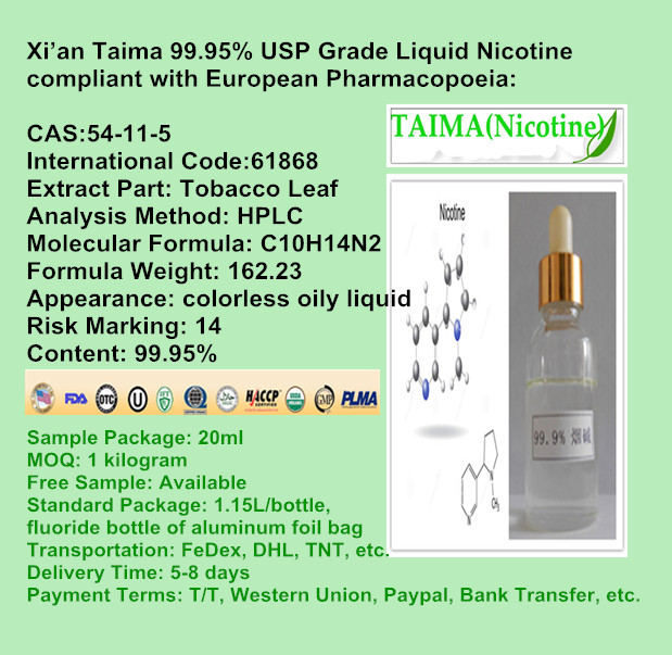 Your Favorable Liquid Nicotine // 99.99% USP Grade Nicotine