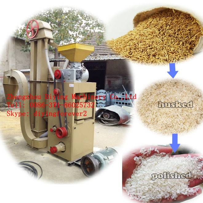 hot sale Electric or diesel 1500kg/h combined rice mill