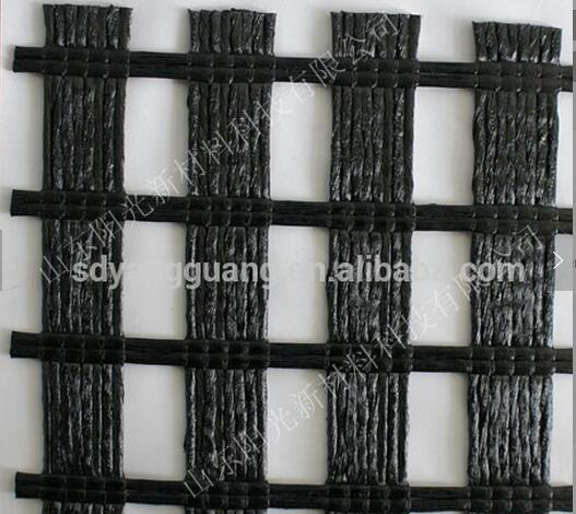 Uniaxial polyester geogrid 400-30kn for slope strengthening