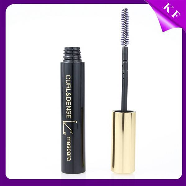 Shantou Kaifeng Round Black Empty Mascara Container With Flexional Brush CM2118