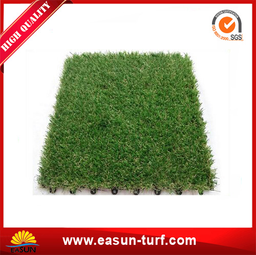 DIY interlocking artificial grass tile for home decoration-AL