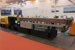 Co-rotating twin screw extruder plastic granule raw material machine
