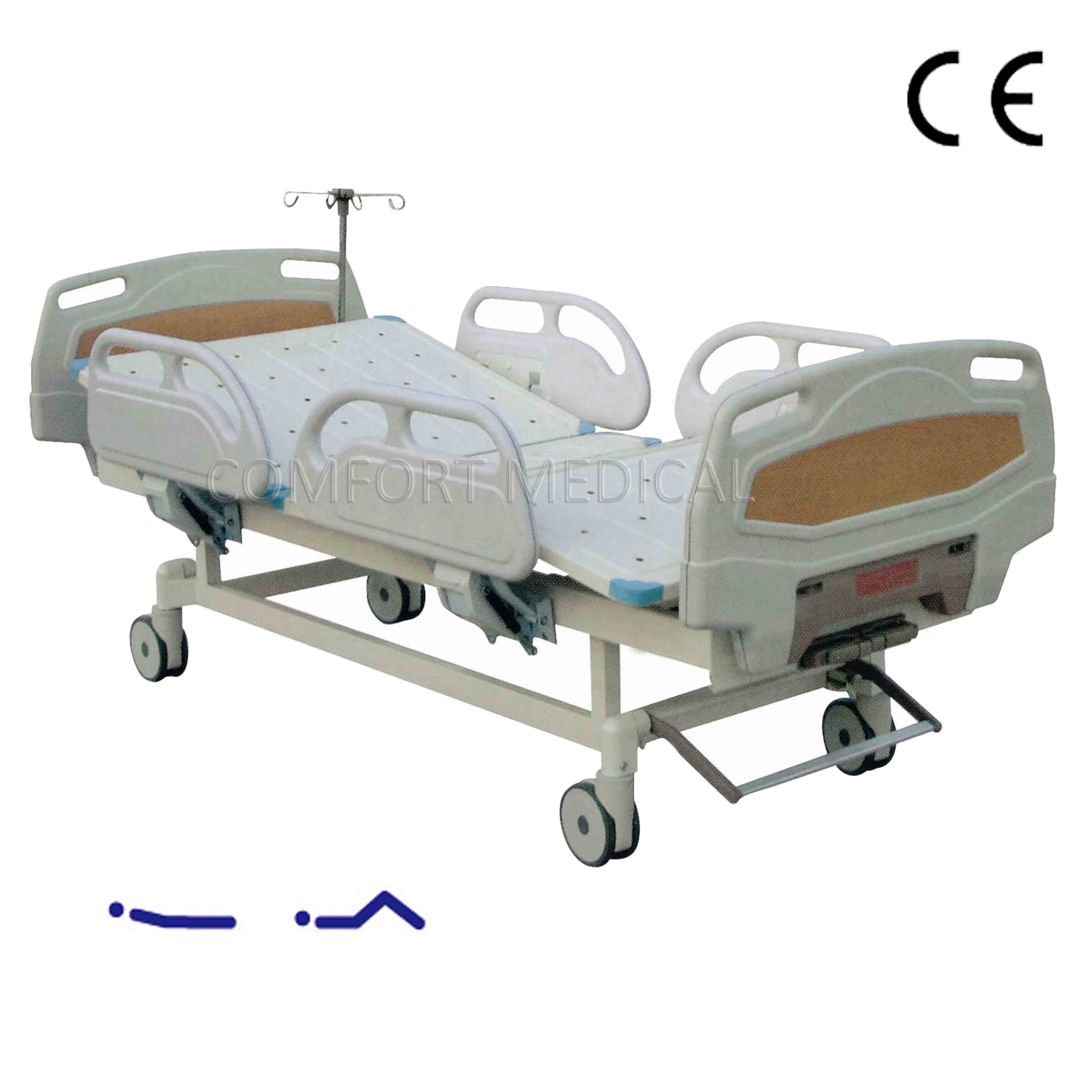 CF-ABS02  Manual 2-rocker medical bed with ABS bed head