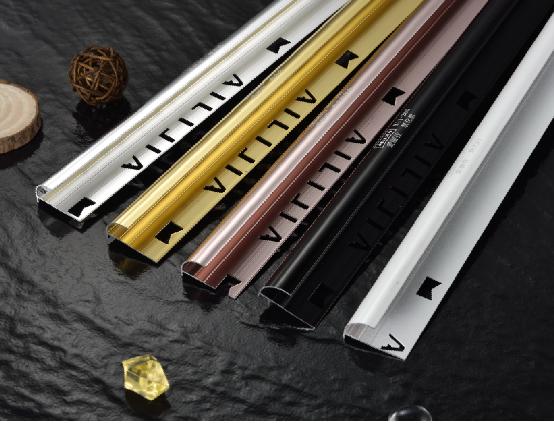 China popular aluminum tile trim tile accessory bath strip