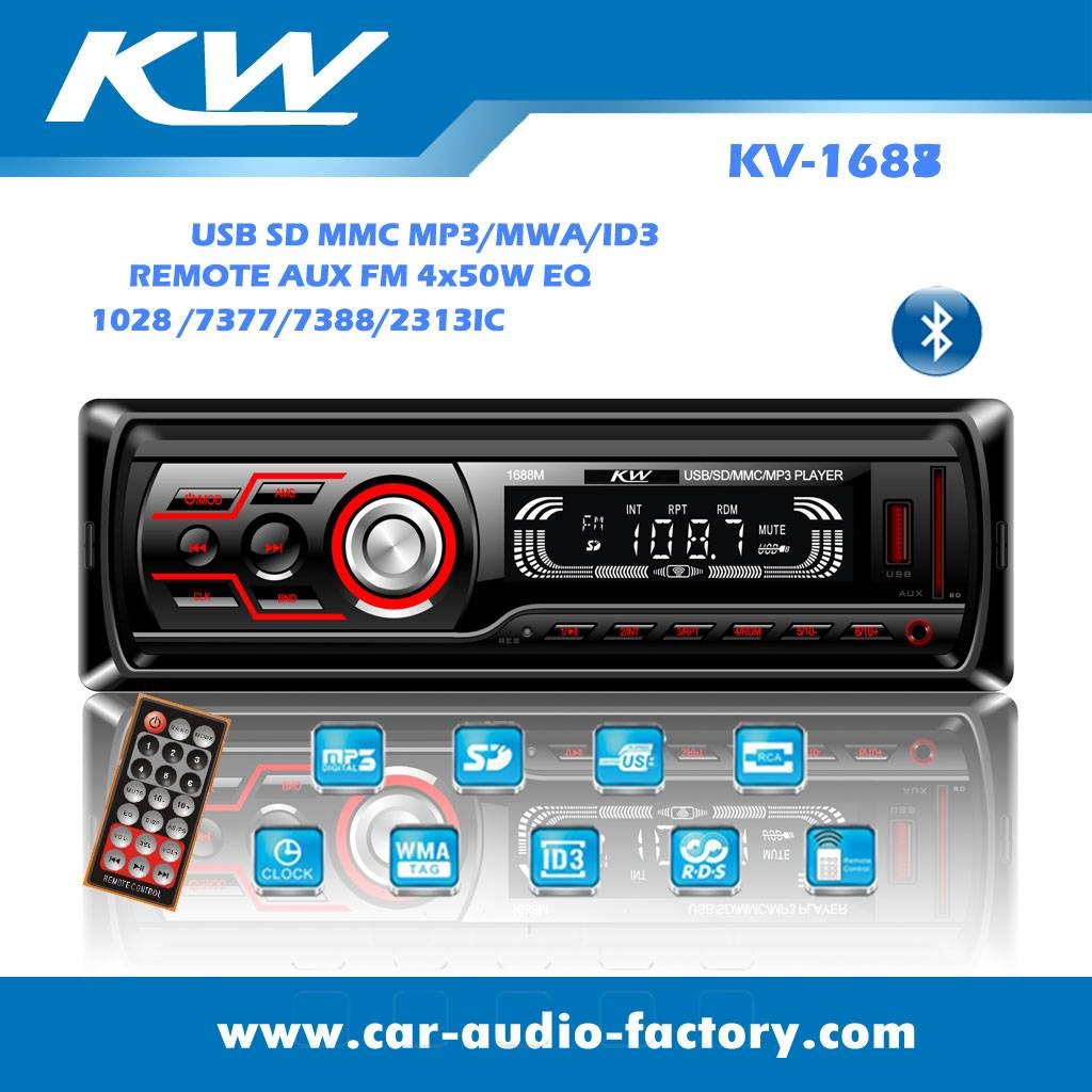 KV1688 Car audio MP3 player with small heat sink