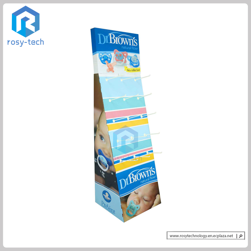 Paper Material Hook Display Stands For Kids Products Promotion