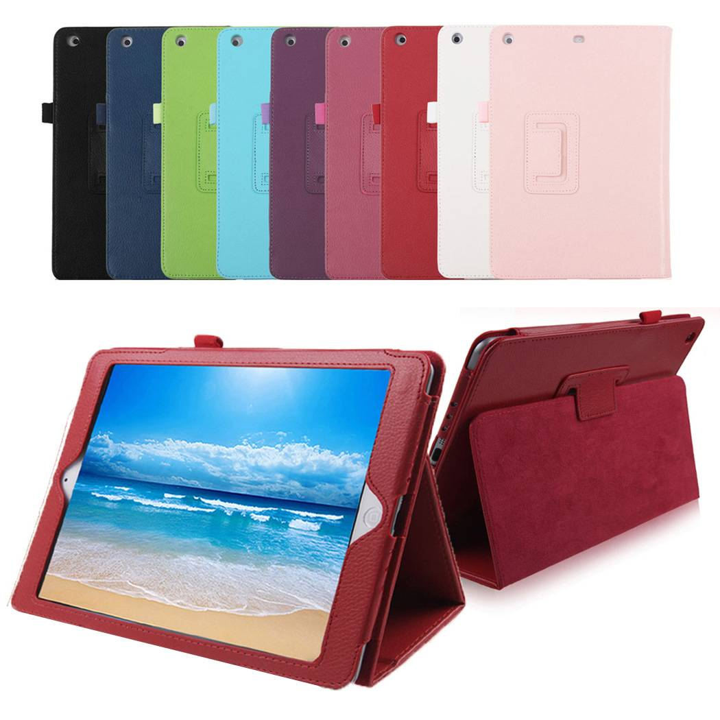 Lichee PU Leather Folio Stand Case Cover W/ Sleep Wake Up Function for iPad Pro Mini 4 Mini4 IPROC02