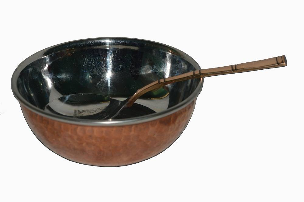 Raghav India 100% Genuine Copper Bowl +Copper Spoon