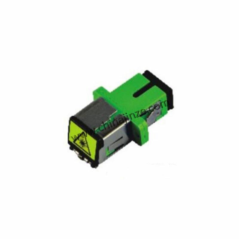 fiber optic adaptor,sc simplex adaptor (metal cap)