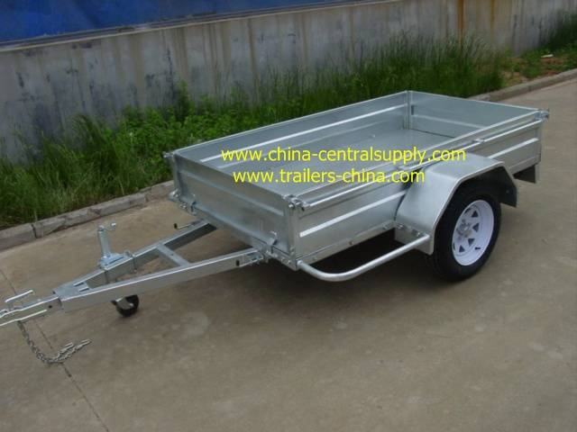 6x4 Box trailer with torsion axle