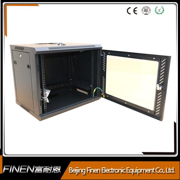 Beijing FINEN top selling glass front door wall mount server rack cabinet 4u-18u