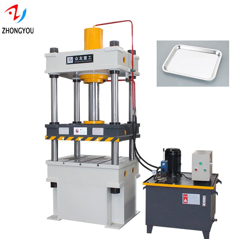 4 column hydraulic press machine for metal processing
