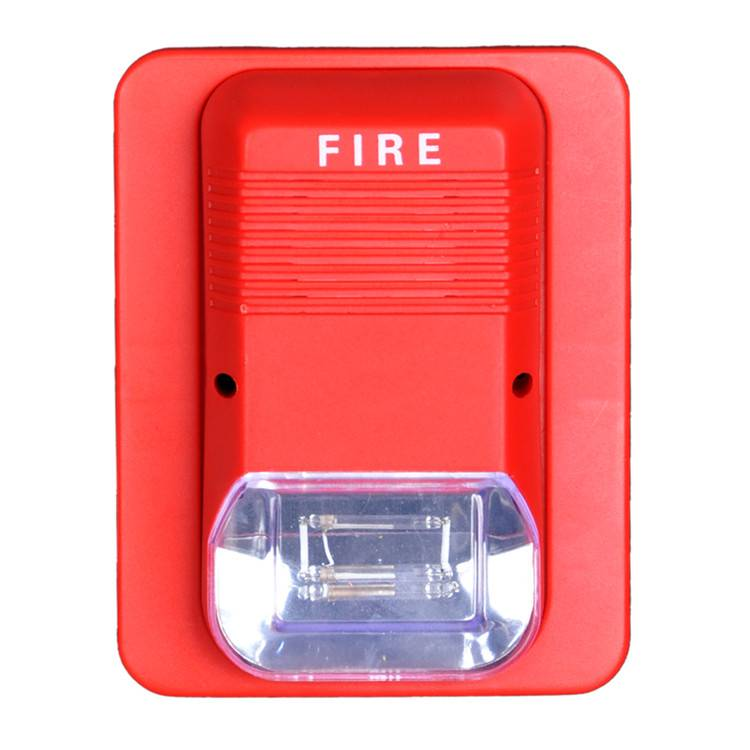 Haisheng 2 wire conventional fire alarm sounder horn light 24v with 95dB