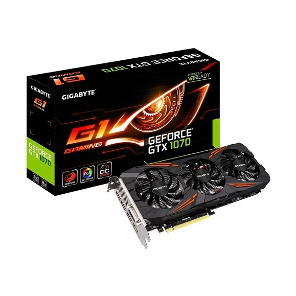 Gigabyte GeForce GTX 1070 G1 Gaming Video/Graphics Cards