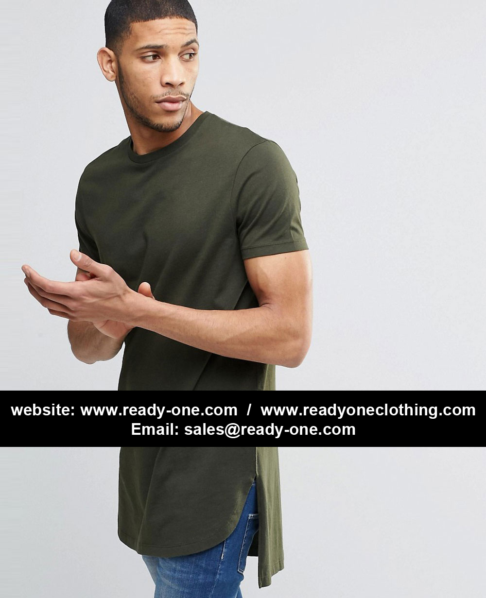 Men Long Back Elongated Tee