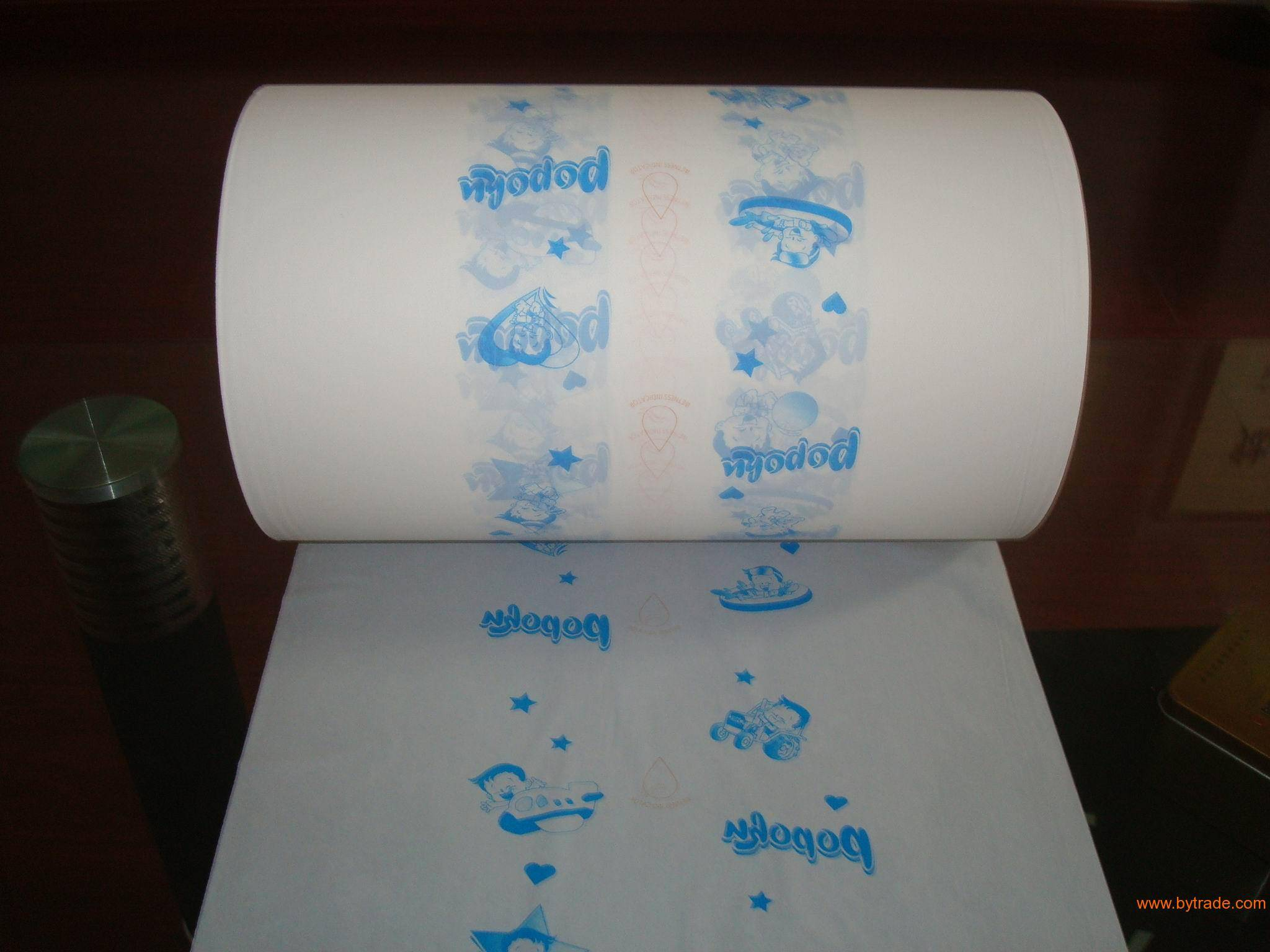 two colours printing PE film