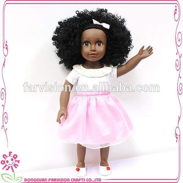 18 inch Silicone reborn interactive baby black doll