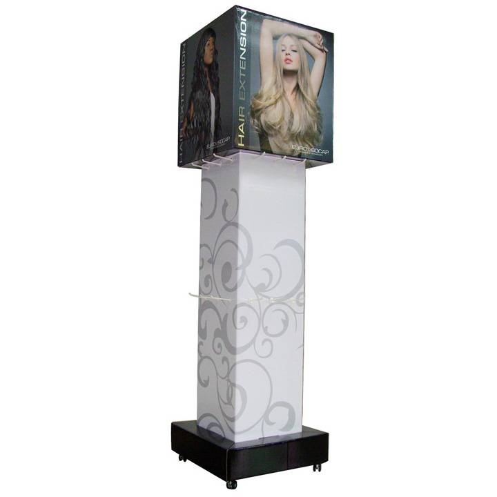 Cardboard floor display stand rack