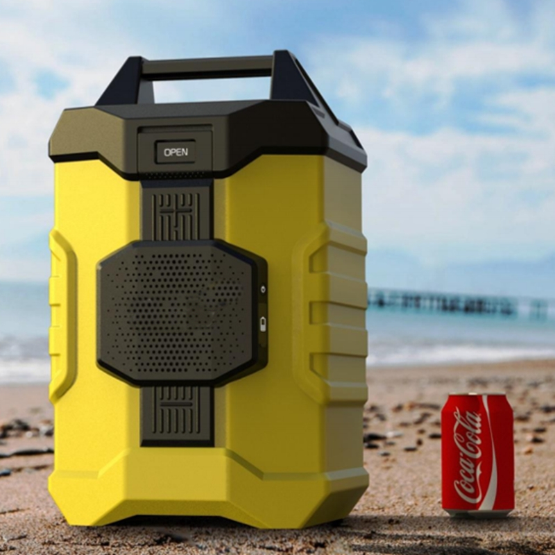 portable Camping cooler box with bluetooth speaker