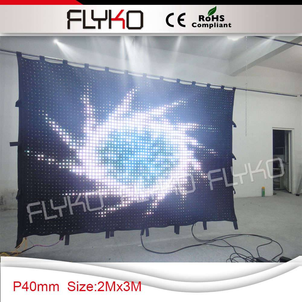 Flyko new invention flexible led video curtain