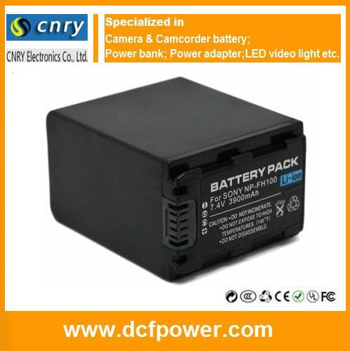 Battery NP-FH100 without cable for Sony DCR-DVD908E DCR-HC47 HDR-HC7E DCR-SR220D HDR-CX11E DCR-HC30